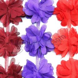 minik lazer kesim şifon çiçek (top ve metre)
