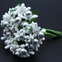 iri pıtırcık gümüş incili çiçek beyaz