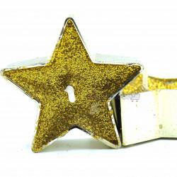 yıldız şeklinde altın simli mum (9 adet)