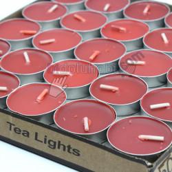 tealight mum kırmızı (50 adet)