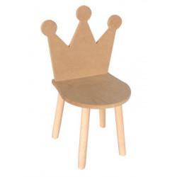 ÇG29 Ahşap Çocuk Sandalyesi Taçlı