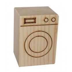 ÇG23 Ağaç Minyatür Çamaşır Makinası