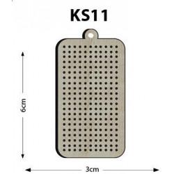 Ks11 - Dikdörtgen Delikli Kasnak Kolye