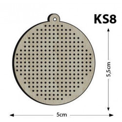 Ks8 - Yuvarlak Delikli Kasnak Kolye