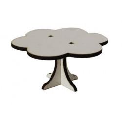 MY69 Beyaz Papatya Minyatür Masa