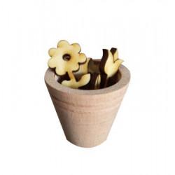 My27 Minyatür Saksı Çiçeklik Ahşap Obje