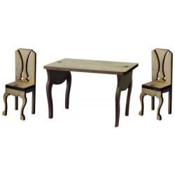 My15 Minyatür Masa Sandalye Set Ahşap Obje