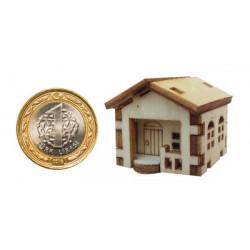 My43 Minyatür Küçük Ev Ahşap Obje
