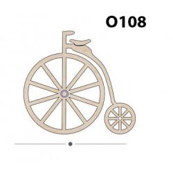 O108 Ahşap Paket Süs Obje Bisiklet