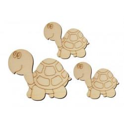 O9 Kaplumbağa Set Paket Süs Ahşap Obje