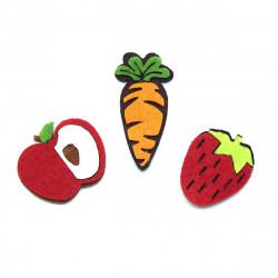 keçe havuç, elma ve çilek (10lu)