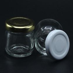 kapaklı cam kavanoz şişe (40cc - 105 adet)