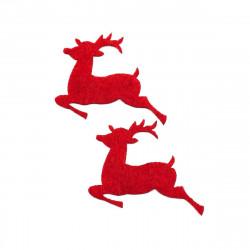 kırmızı geyik yapıştırma keçe (5li paket)