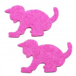 pembe kedi yapıştırma keçe (5li paket)