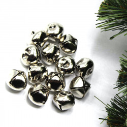 gümüş renkli zil (50 adet - 3 boy)