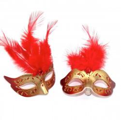 mıknatıslı kırmızı mini maske (12'li)