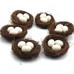 süs kuş yuvası ve yumurta (10'lu)