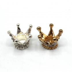 3 Boyutlu Metal Taç -Büyük boy(Altın/Gümüş)
