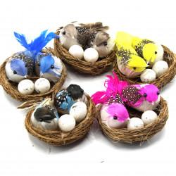 süs ikili kuş ve yuvası (5 farklı renk seçeneği)