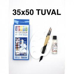 Tuval Boyama Seti (Akrilik-35x50cm)