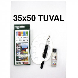 Tuval Boyama Seti (Yağlı Boya-35x50cm)