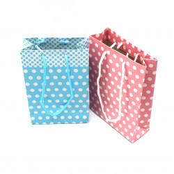 Puantiyeli Karton Çanta (10 adet)17*12 cm