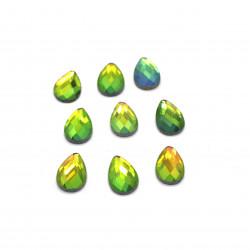 yeşil janjanlı hotfix taş(1*1,4 cm)