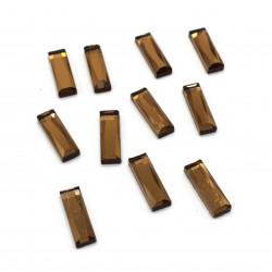 kahverengi dikdörtgen hotfix taş(2*0,8 cm)