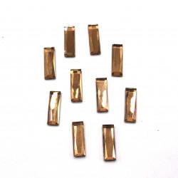 kahverengi dikdörtgen hotfix taş(1,5*0,5 cm)