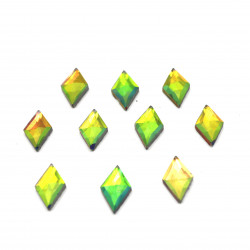 yeşil janjanlı hotfix taş