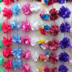Lazer Kesim Saten Çiçek