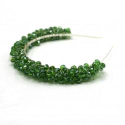 Açık Yeşil Kristal Gelin Tacı