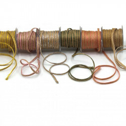 hasır-jüt kurdele 4mm renkli kenar
