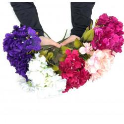 yapay çiçek demet ortanca ( 7 dal )