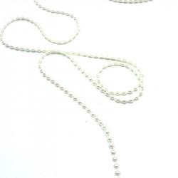 yarım inci krem renk şerit (4mm)