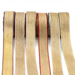 hasır-jüt kurdele 38mm renkli kenar