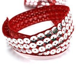 Gümüş Pullu Kırmızı Kurdele
