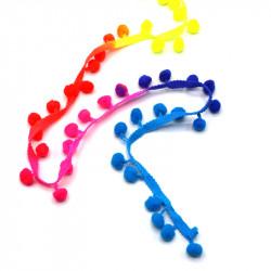 Renkli Ponponlu Şerit