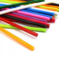 renkli ince çubuk silikon (12 adet)