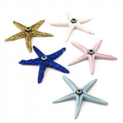 nazar boncuklu polyester deniz yıldızı ( 10 lu )