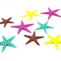 Renkli Polyester Deniz Yıldızı (1 - 2 cm / 25 adet)