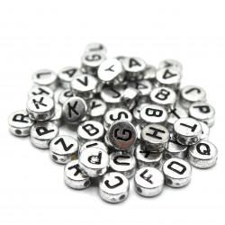 Metalik Elips Boncuk Gümüş (6mm-1800 adet)