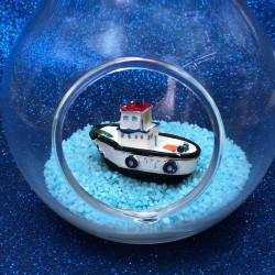 Dekoratif Mini Balıkçı Teknesi Beyaz