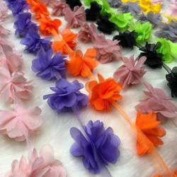 Lazer Kesim Şifon Çiçek(1 metre)