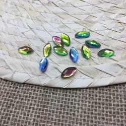 yeşil janjanlı elips hotfix taş