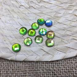yeşil janjanlı yuvarlak hotfix taş