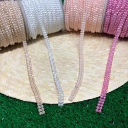 çift sıralı yarım inci şerit (4 renk)