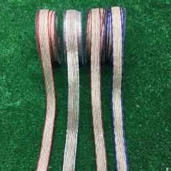 hasır-jüt kurdele 16mm renkli kenar