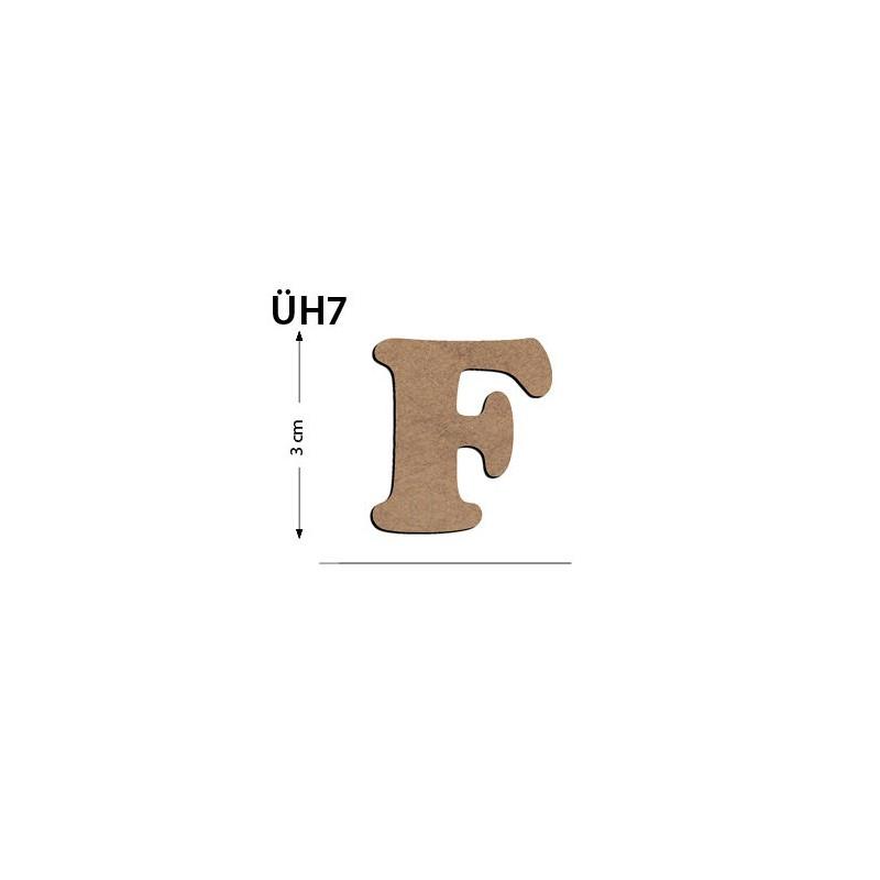 0a3728faa4a89 ÜH7 Ahşap 3 Cm F Harfi