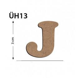 ÜH13 Ahşap 3Cm J Harfi